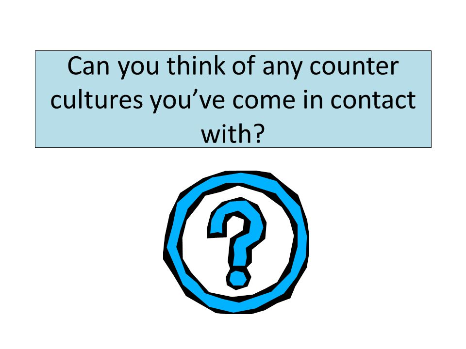 Countercultures