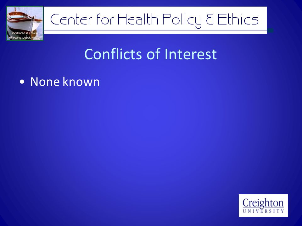 Conflicts of Interest None known