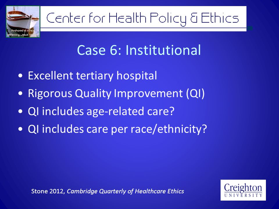 Justice Fair application of respect for persons and other professional ethical values –Health/healthcare equity Remediation if unjust inequality or inequitable treatment