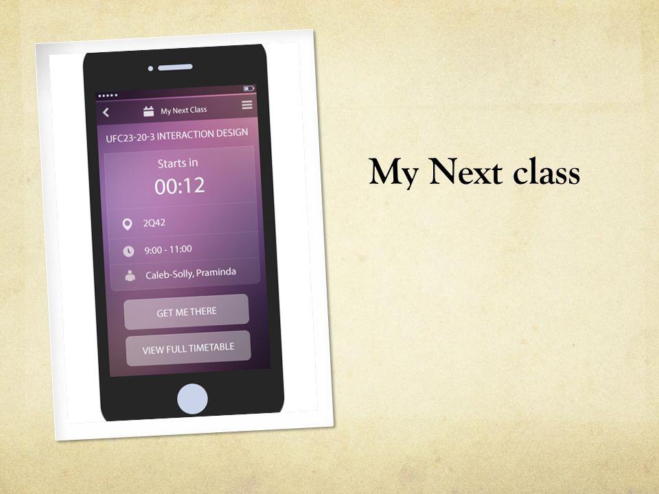 My Next class