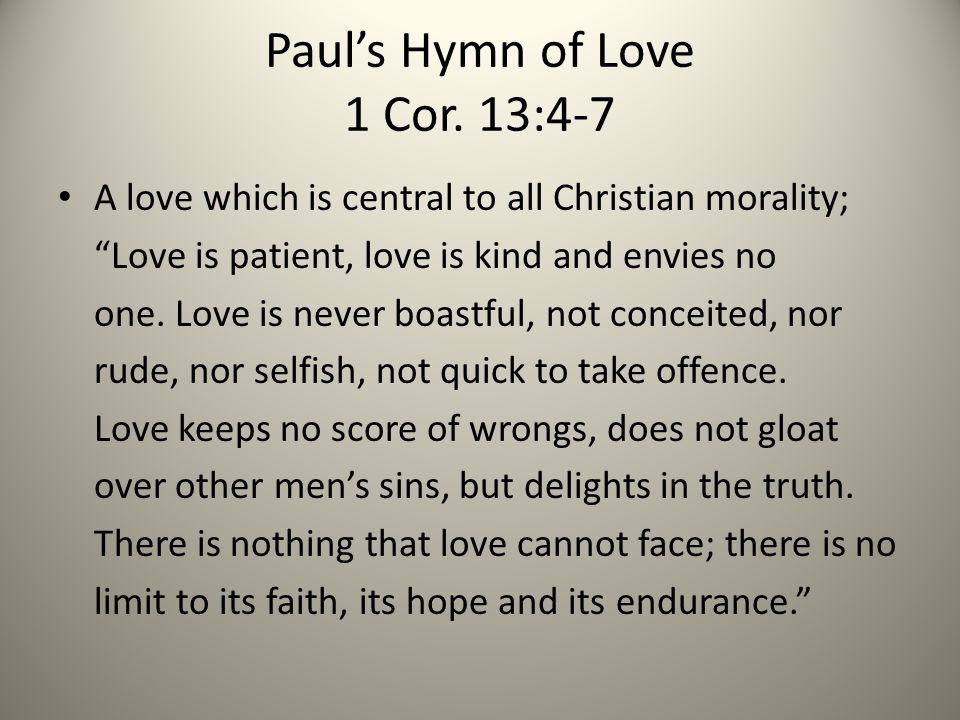 Paul's Hymn of Love 1 Cor.
