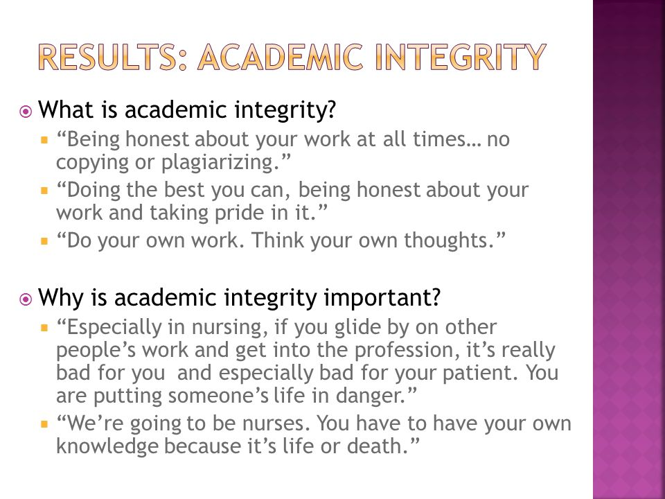  What is academic integrity.
