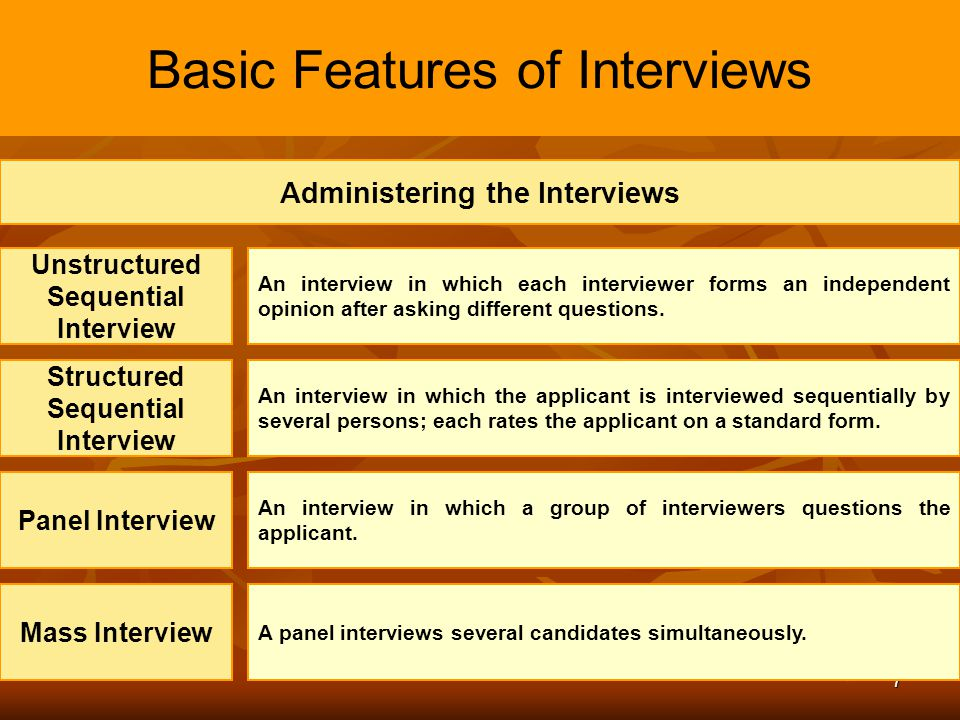 8 Basic Features of Interviews Administering the Interviews Phone and Video Interview To do the interview using phone or videoconference.