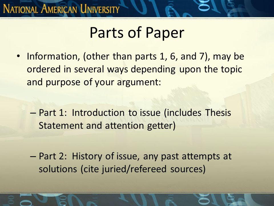 Patterns Pattern #3: Thesis CON idea 1---> Ref. CON idea 2---> Ref. CON idea 3--->Ref. Conclusion
