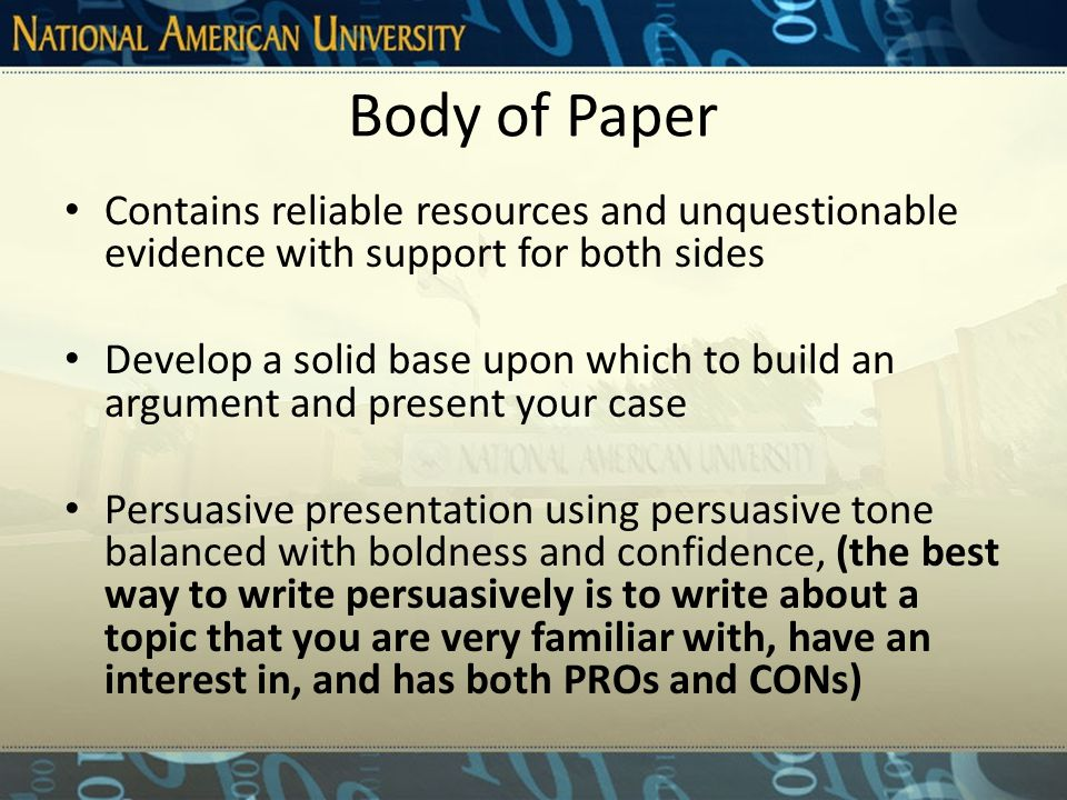 General Introduction of Issues Sets the tone of the paper Attracts the reader's attention Introduces research, theme, and argument