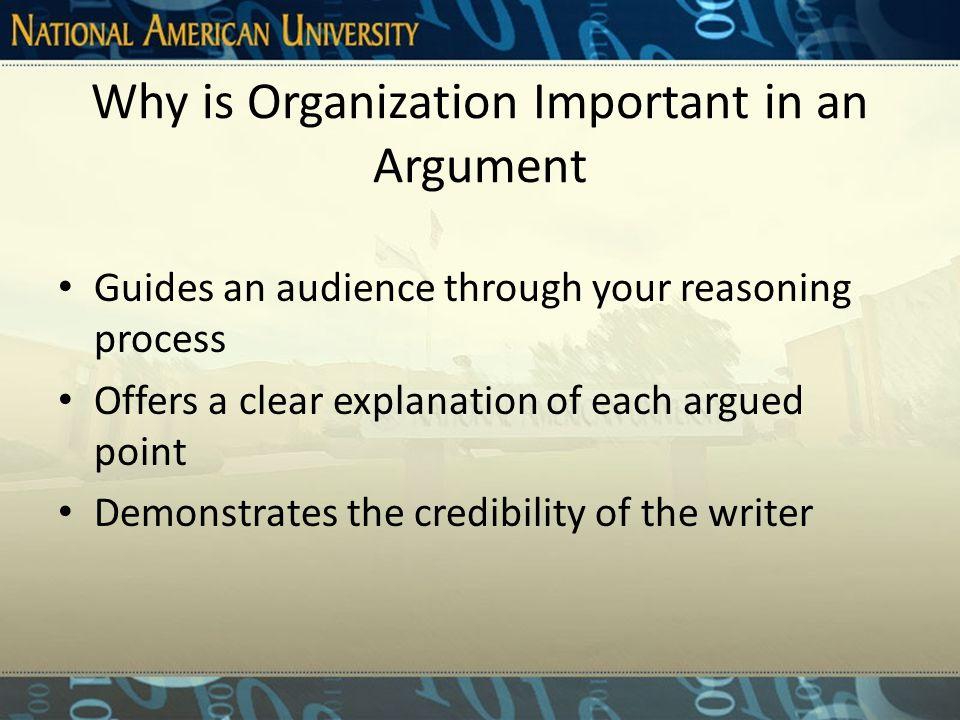 Building a Convincing Argument Cont.