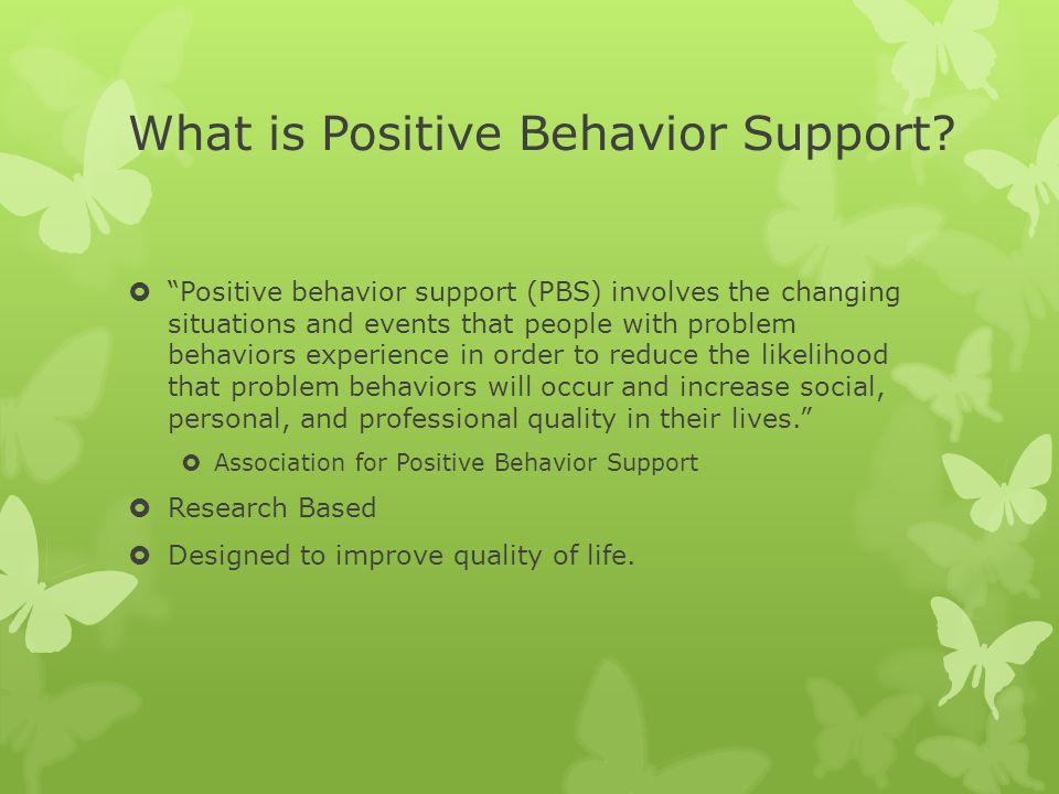 What is Positive Behavior Support.