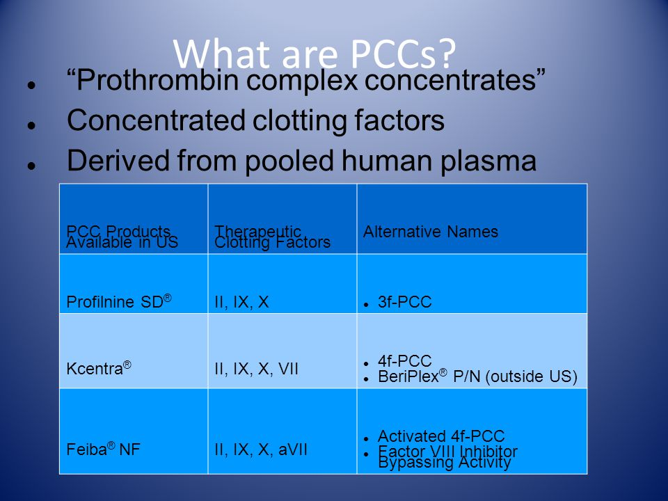 65 What are PCCs.