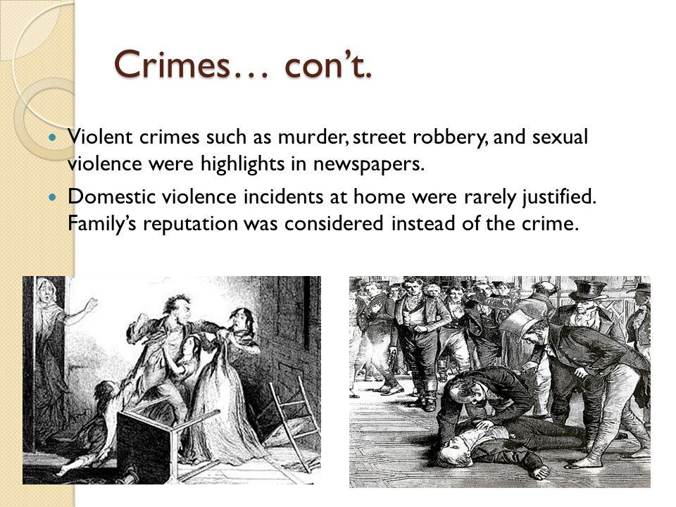 Crimes… con't.