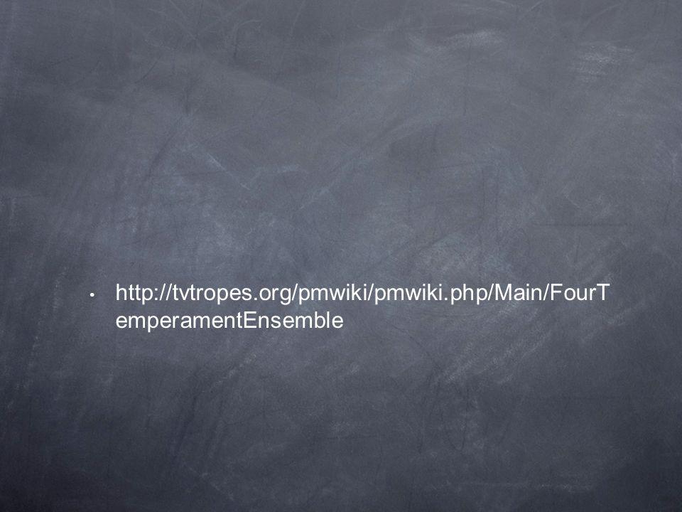 http://tvtropes.org/pmwiki/pmwiki.php/Main/FourT emperamentEnsemble
