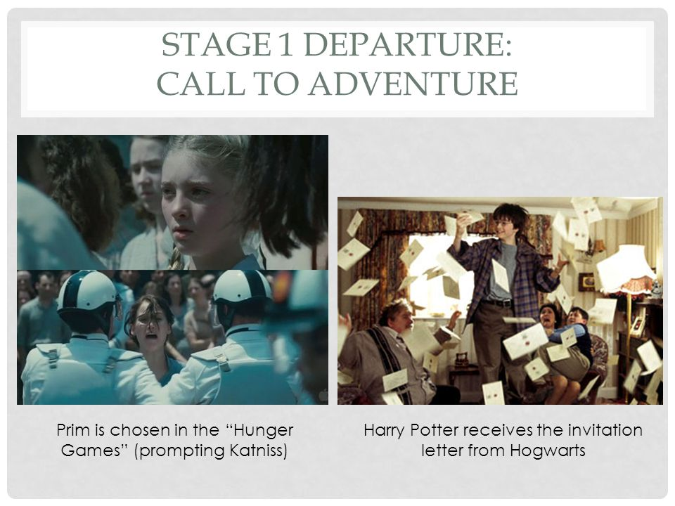 STAGE 1 DEPARTURE: THE REFUSAL OF THE CALL The future hero often refuses to accept the Call to Adventure.