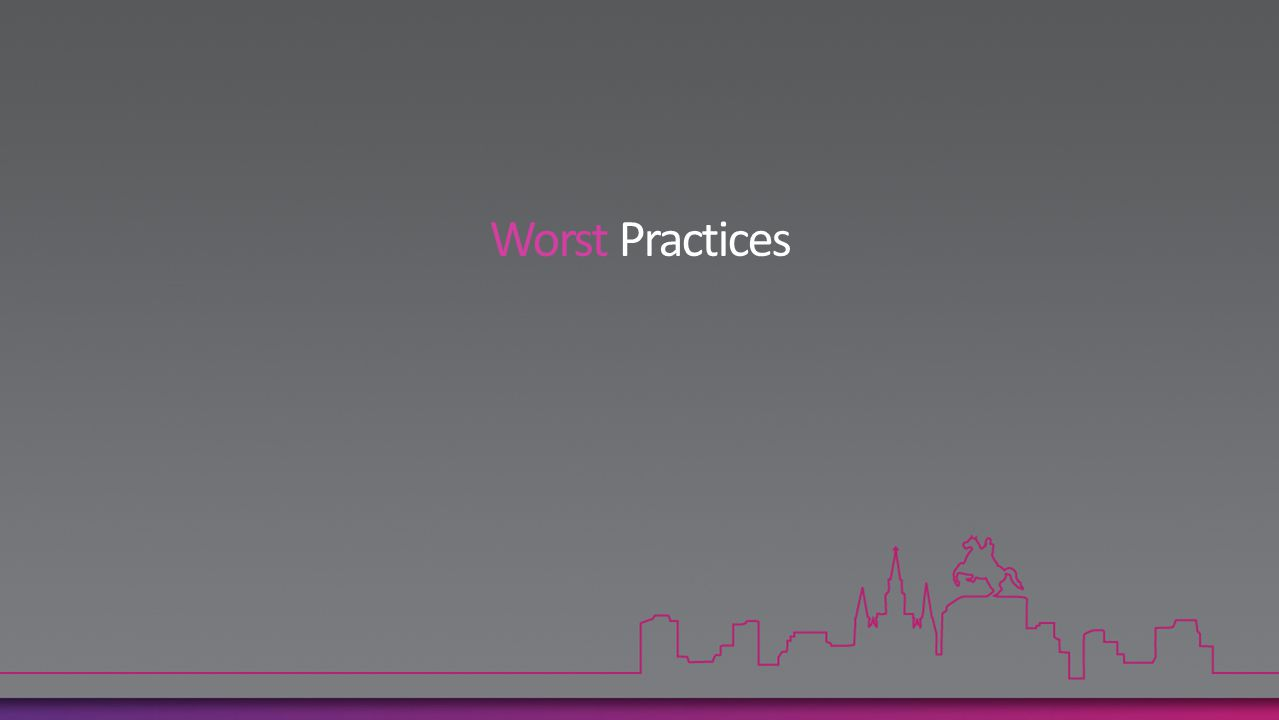 Worst Practices