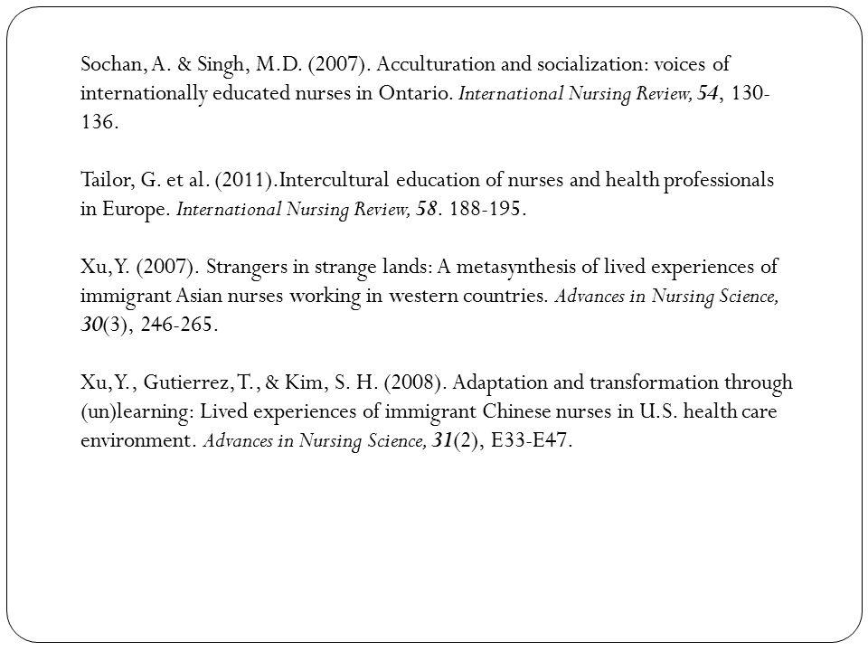Sochan, A. & Singh, M.D. (2007).