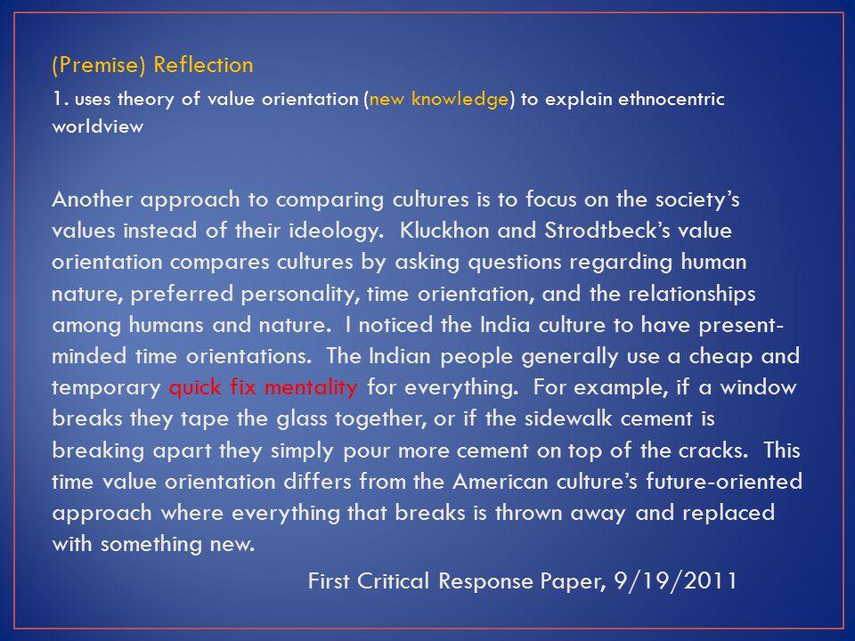 (Premise) Reflection 1.