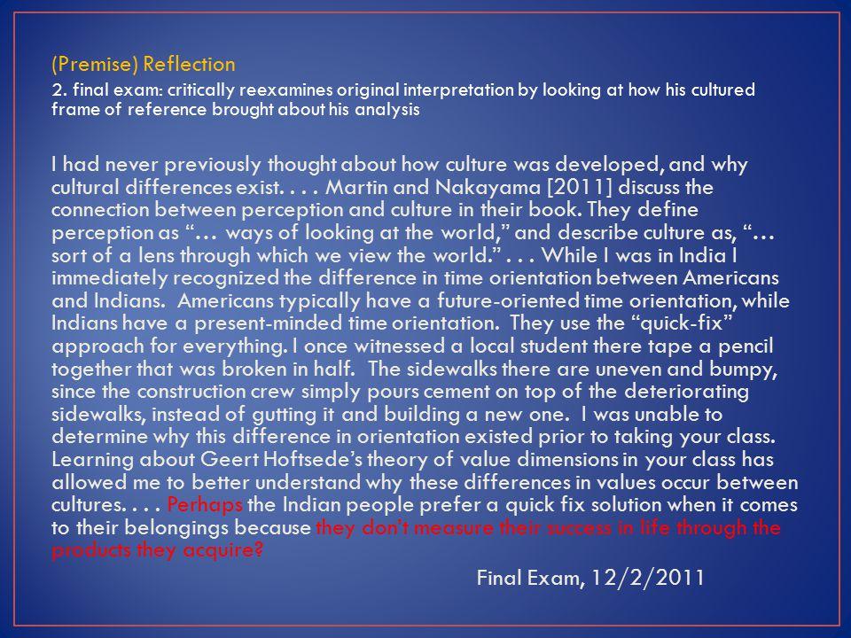 (Premise) Reflection 2.
