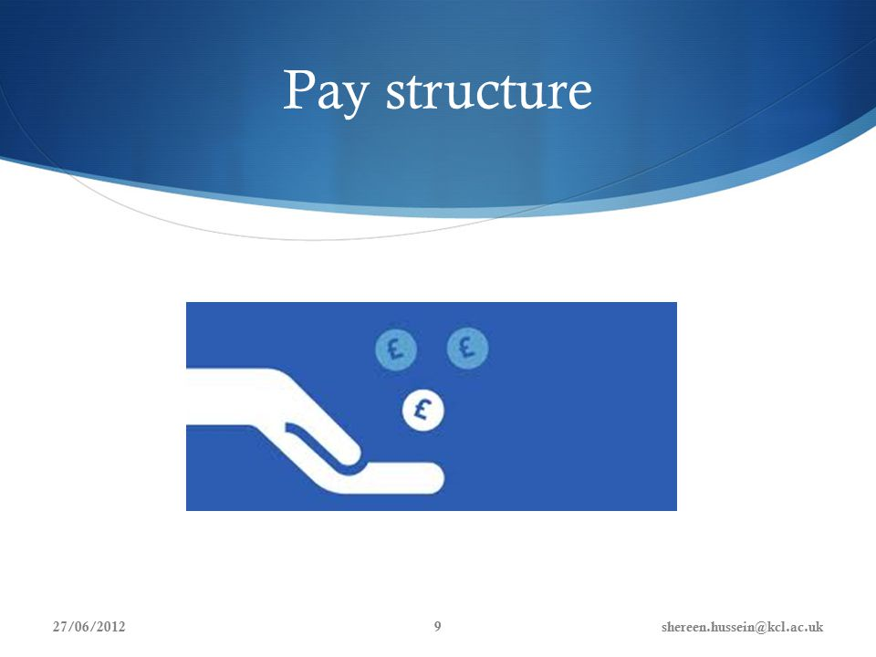 Pay structure 27/06/2012shereen.hussein@kcl.ac.uk9