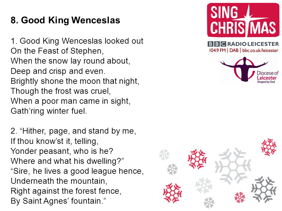 8. Good King Wenceslas 1.