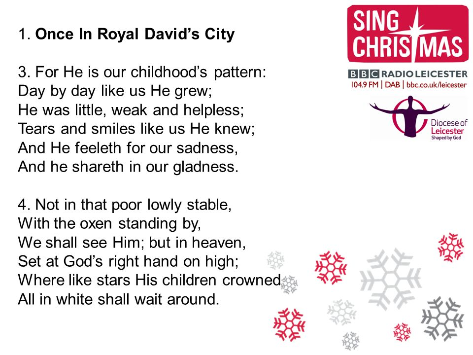 2.Hark The Herald Angels Sing 1. Hark. the herald angels sing Glory to the newborn King.