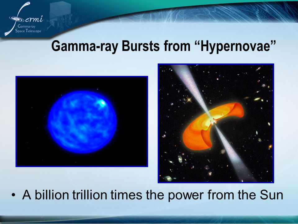 "Gamma-ray Bursts from ""Hypernovae"" A billion trillion times the power from the Sun"