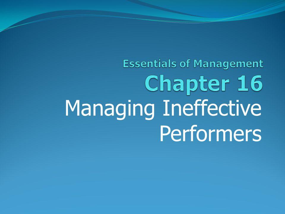 Managing Ineffective Performers