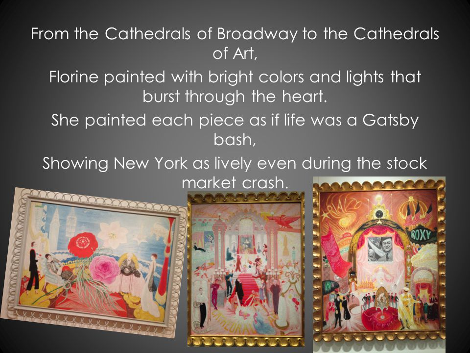 What truly caught my eye was an artist at the Met, Florine Stettheimer with her modern painting set. She valued a world that was defined by what's aro
