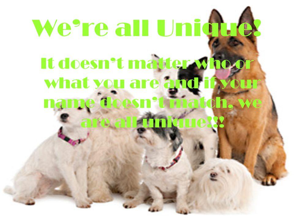 We're all Unique.
