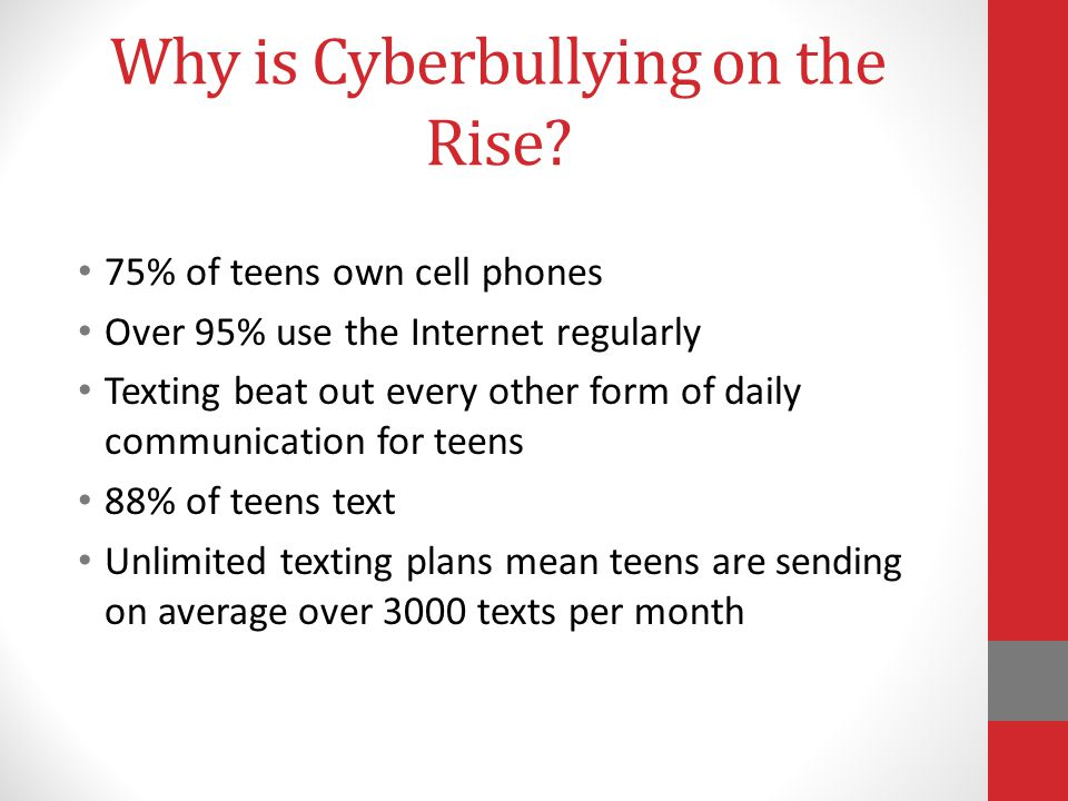 Why is Cyberbullying on the Rise.