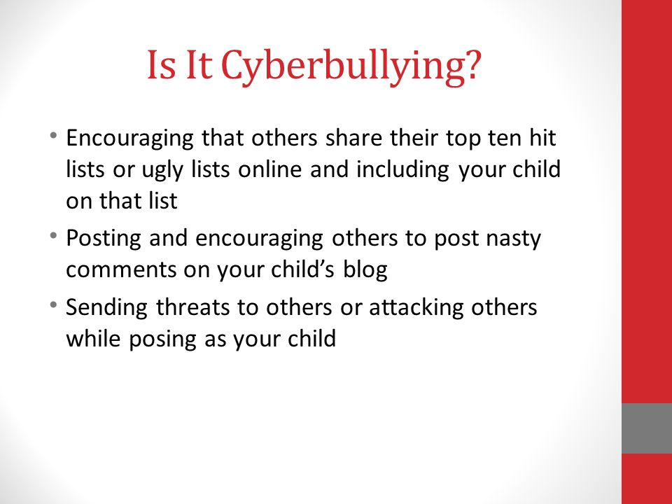 Is It Cyberbullying.