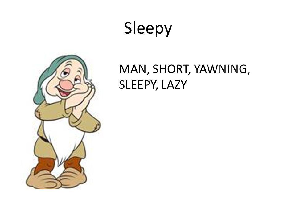 Sleepy MAN, SHORT, YAWNING, SLEEPY, LAZY