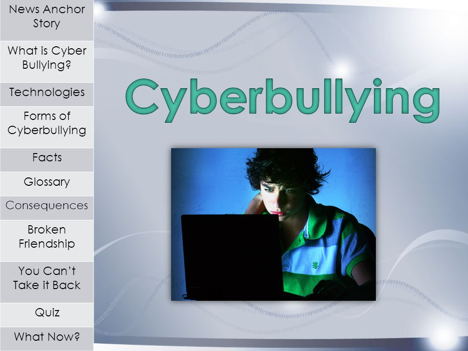 News Anchor Story What is Cyber Bullying.