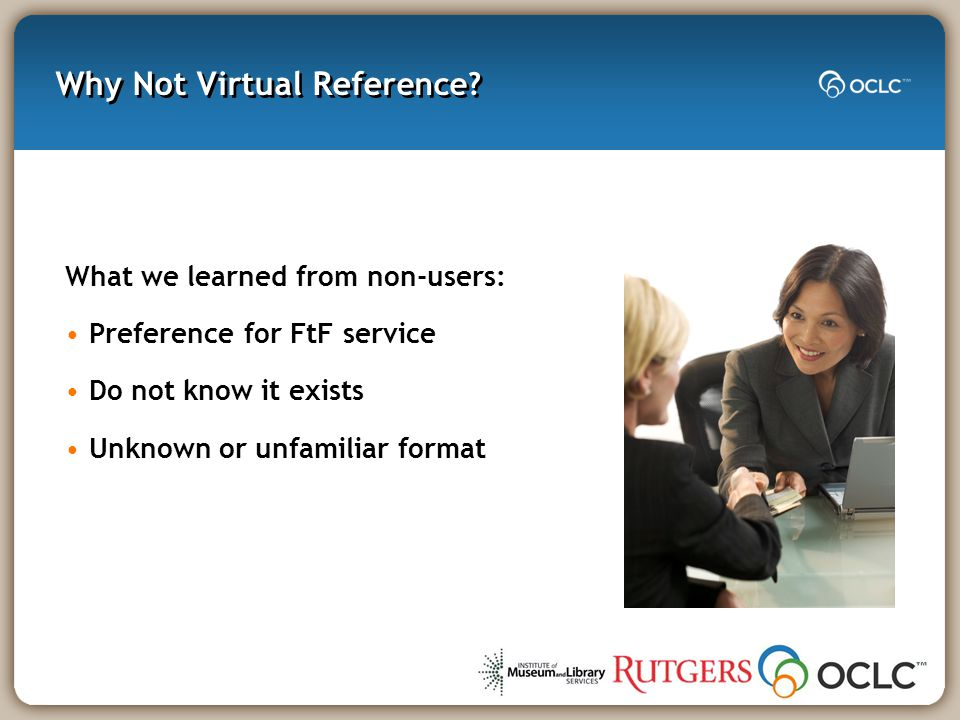 Why Not Virtual Refe rence.