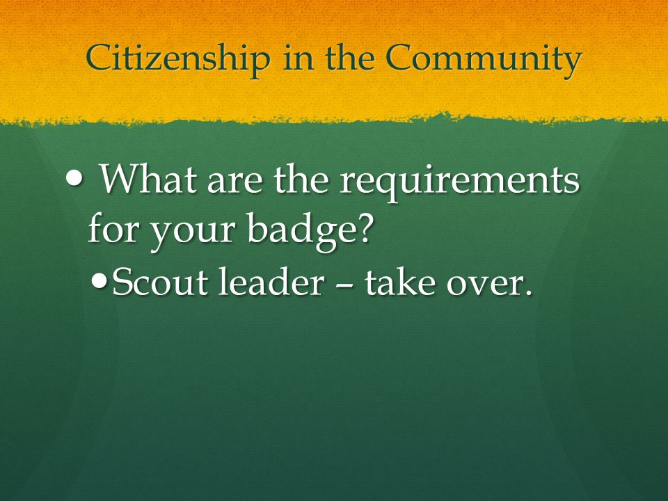 Citizenship in the Community What is a citizen.What is a citizen.
