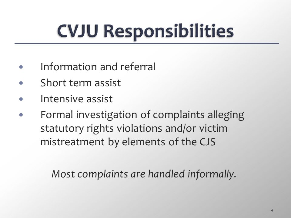 Pre-trial Release Input: Prosecutor must present relevant information involving the victim or the victim's family account of the alleged crime to the judge to be considered in determining the arrested person's release.
