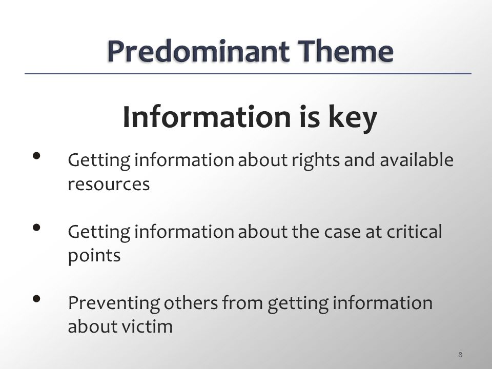 Information Related Information related to CSC victims automatically withheld by law enforcement.