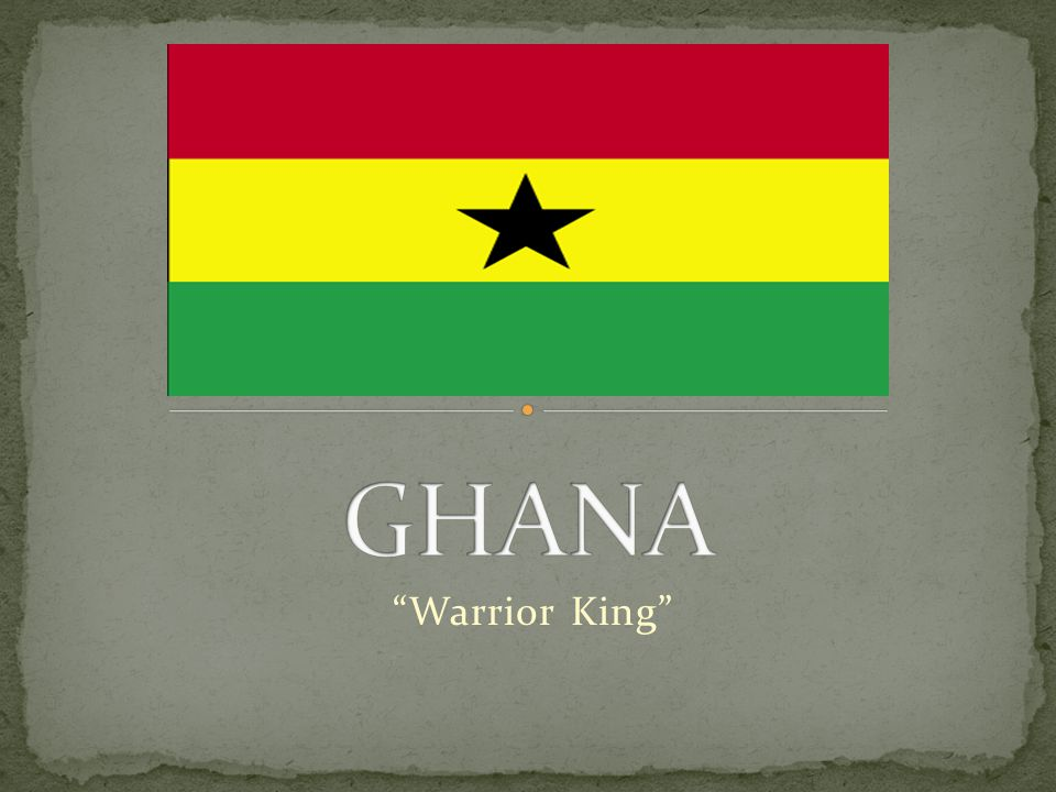 The Republic of Ghana is a country in Western Africa.