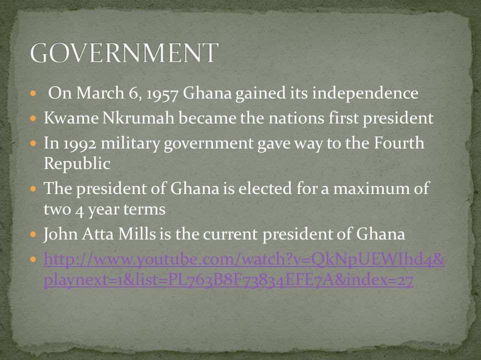 Well endowed with natural resources, Ghana has roughly twice the per capita output of the poorest countries in West Africa.
