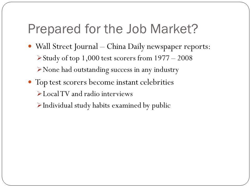 Prepared for the Job Market.