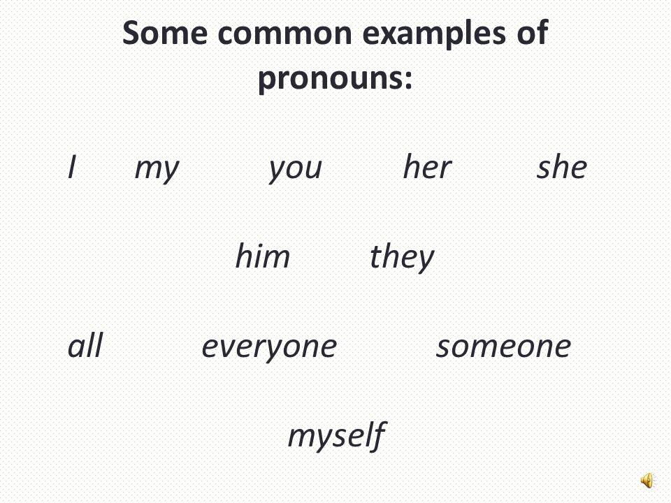 Pronouns A pronoun is a word that replaces a noun.