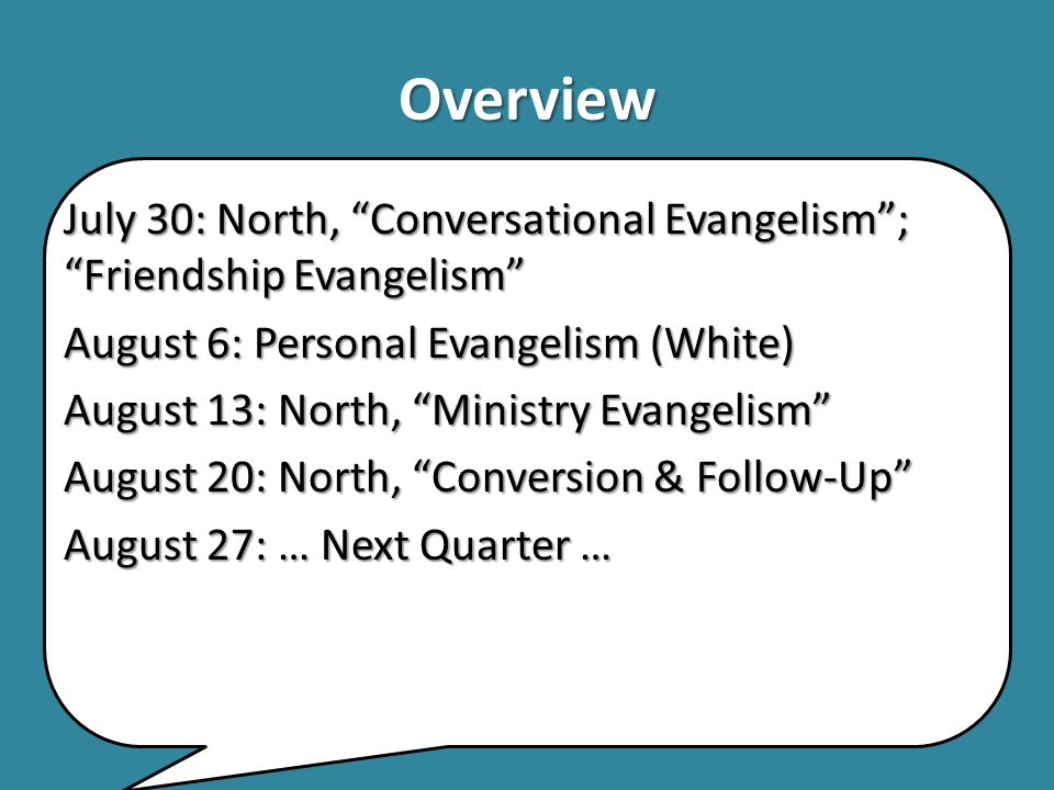 Evangelizing Your Community North, Stafford.Evangelizing Your Community.