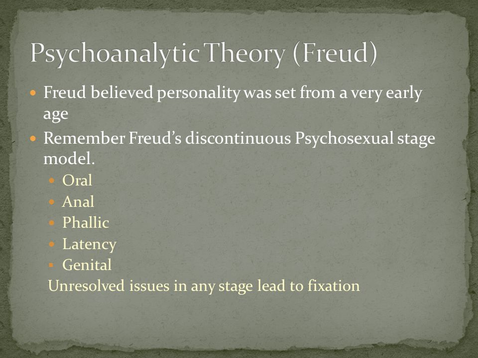 Freud's early followers took some of Freud's concepts and expanded on them The theories of Freud's followers were know as Psychodynamic or neo-Freudian Carl Jung and Alfred Adler were the most influential neo-Freudians