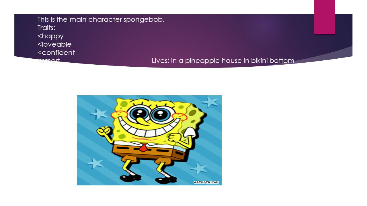 This is the main character spongebob.