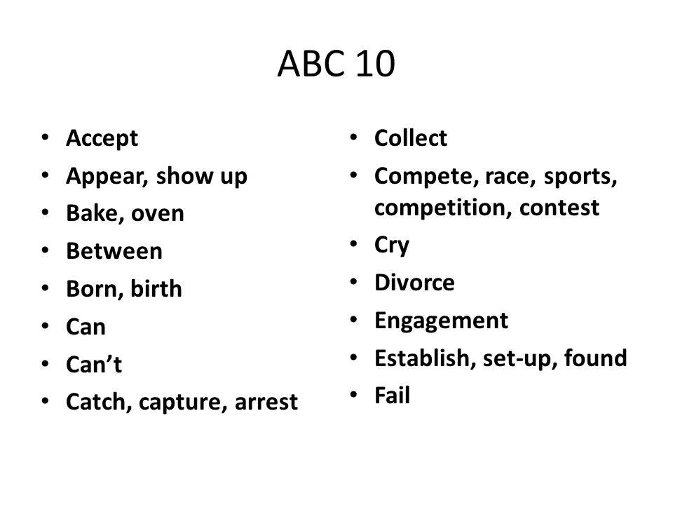 Idioms #1-10 1.asl pro 2.easy as pie 3.