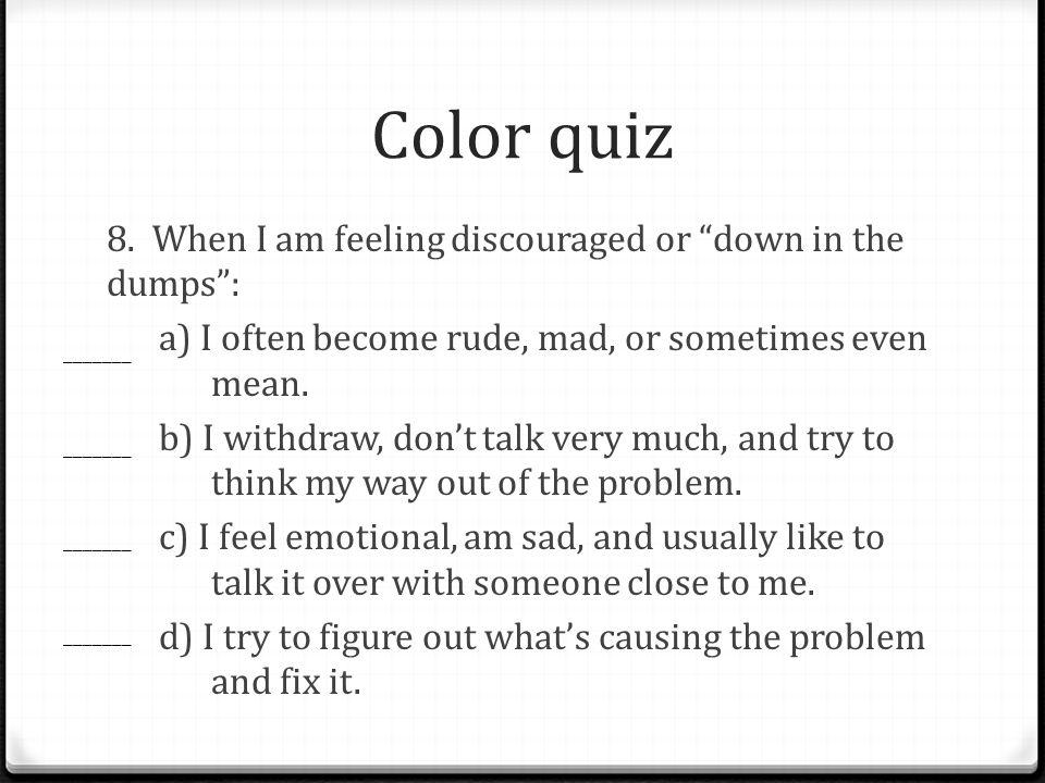 Color quiz 8.