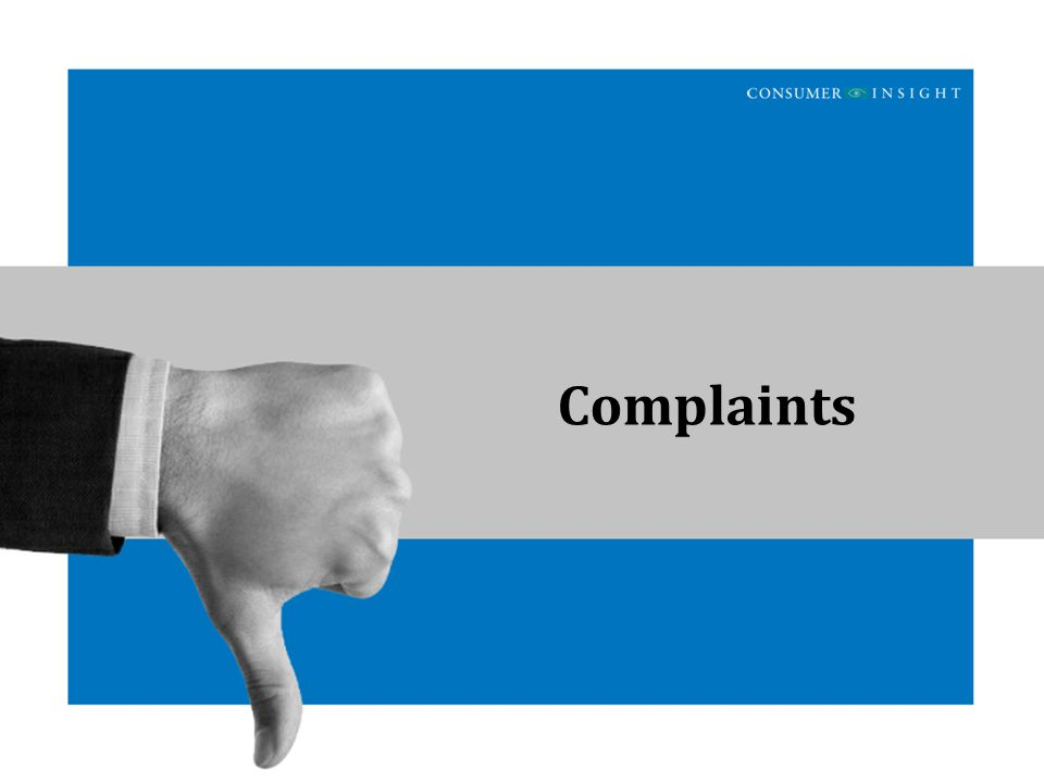 Customer Satisfaction Study Complaints