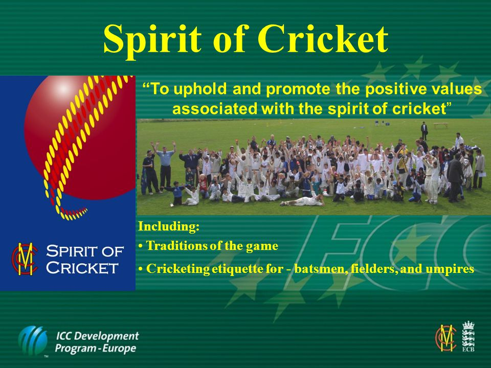 Actions of the fielding side Thank the umpire when passing him your sweater or cap to look after during the over and when he returns these items If questioning the umpire on any point – do it politely and accept his response, even though you may not agree with him