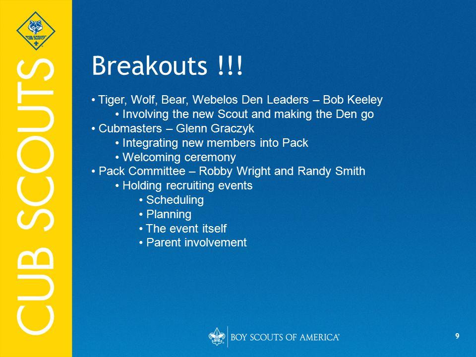 9 Breakouts !!.