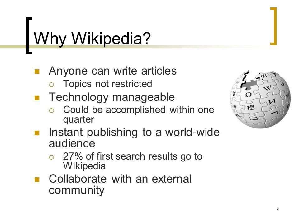 6 Why Wikipedia.