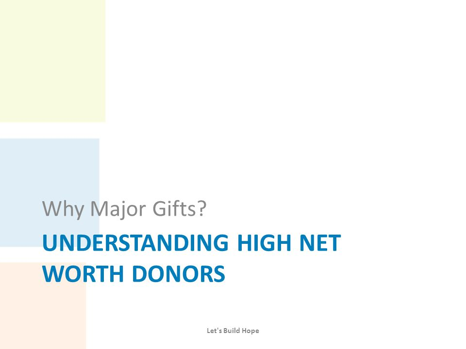 Are Major Donors Worth the Effort.
