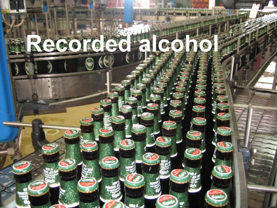Carlsberg samlebånd Recorded alcohol