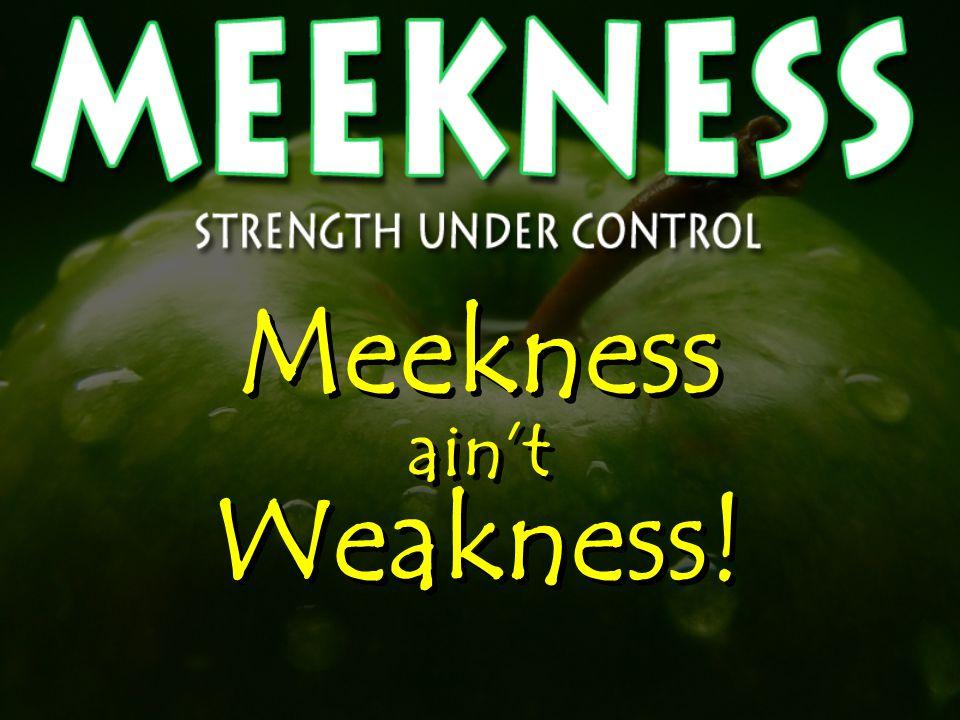 Meekness ain't Weakness!